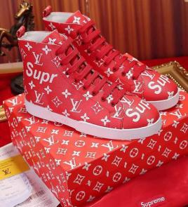 acheter shoes women louis vuitton high supreme red
